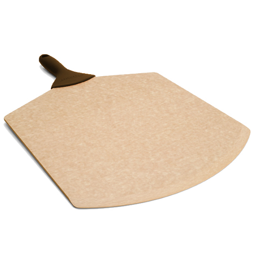 Epicurean Natural Pizza Peel with Brown Silicone Grip Handle, 21 x 14 Inch
