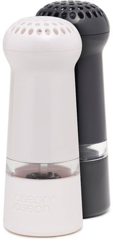 Joseph Joseph Milly Mess-Free Black and White Salt and Pepper Mill Set