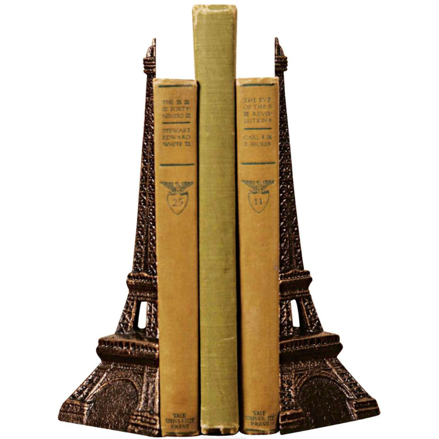Homart 2 Piece Bronze Cast Iron Eiffel Tower Bookend Set