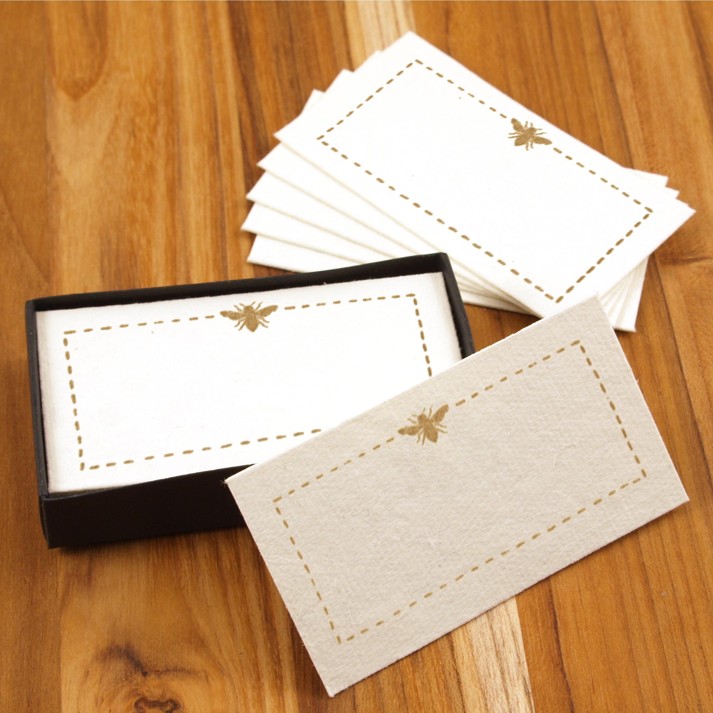 Homart Bee Printed Handmade Paper Card, Set of 32