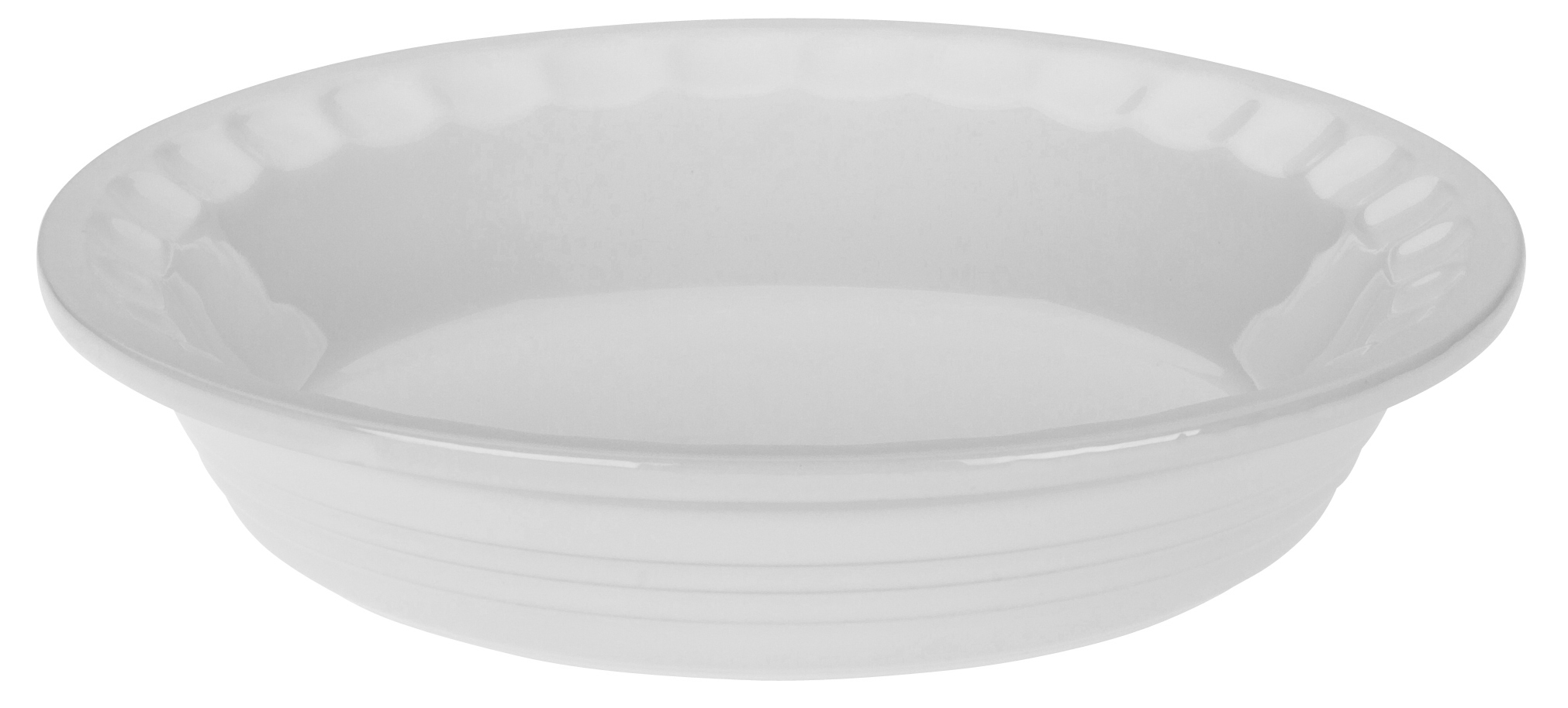 Le Creuset Heritage White Stoneware Pie Pan, 9 Inch