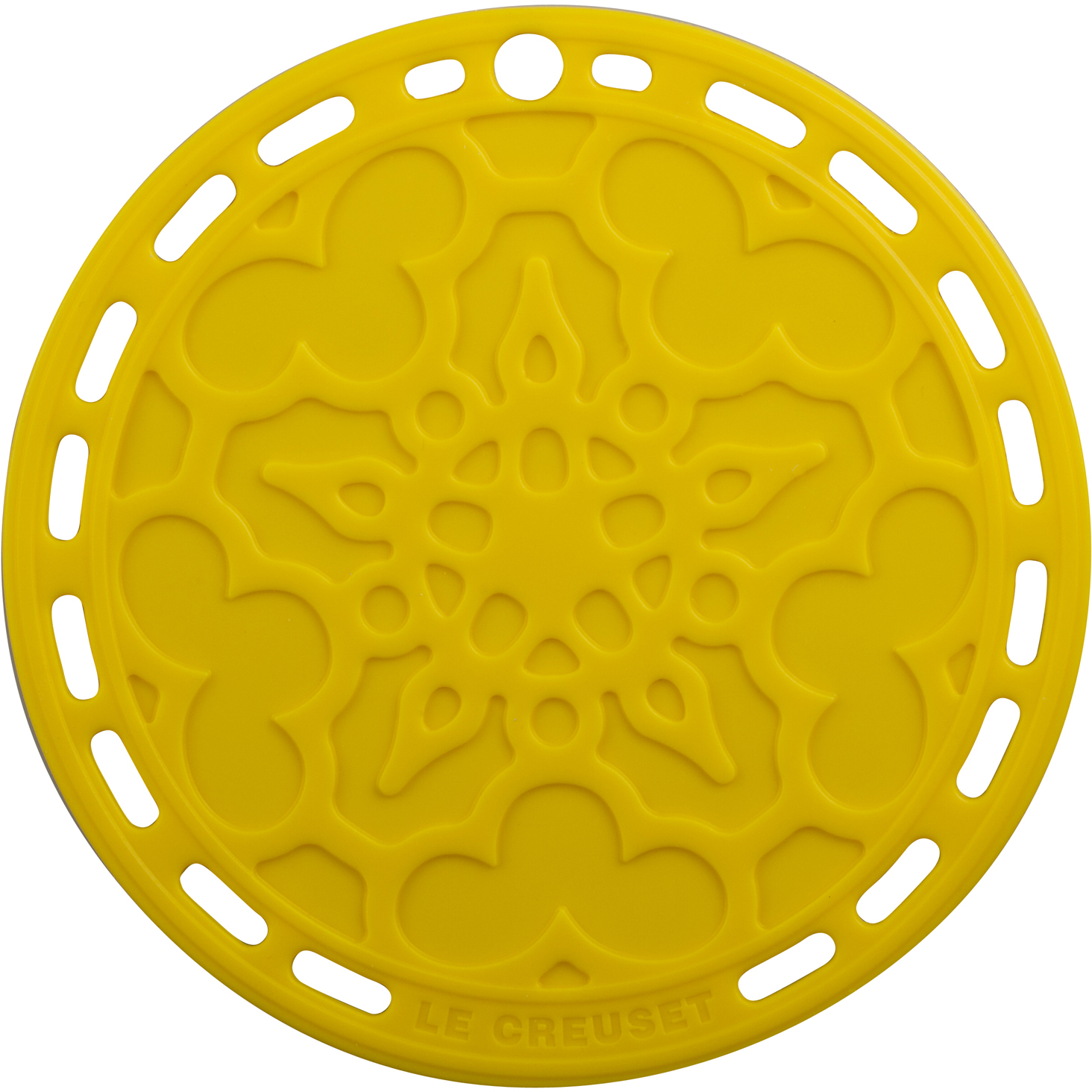 Le Creuset Soleil Yellow Silicone French Trivet, 8 Inch