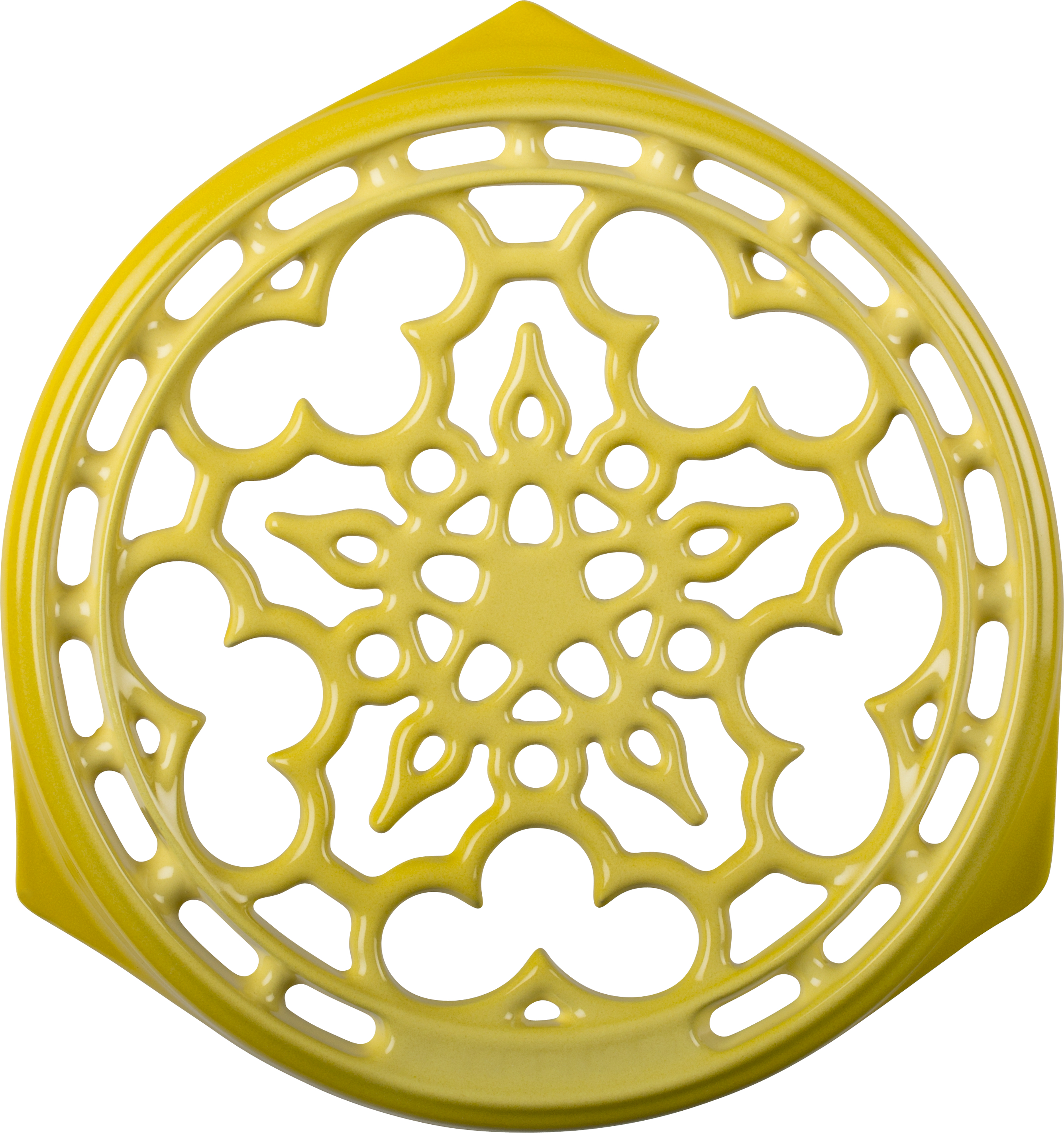Le Creuset Soleil Yellow Enameled Cast Iron Deluxe Round Trivet, 9 Inch
