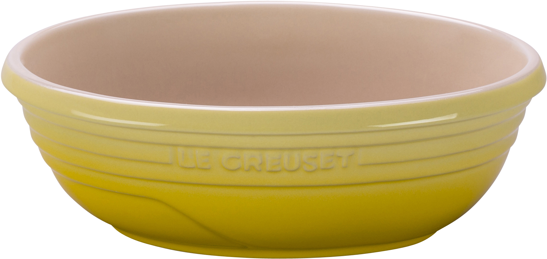 Le Creuset Soleil Yellow Stoneware Small Oval Serving Bowl