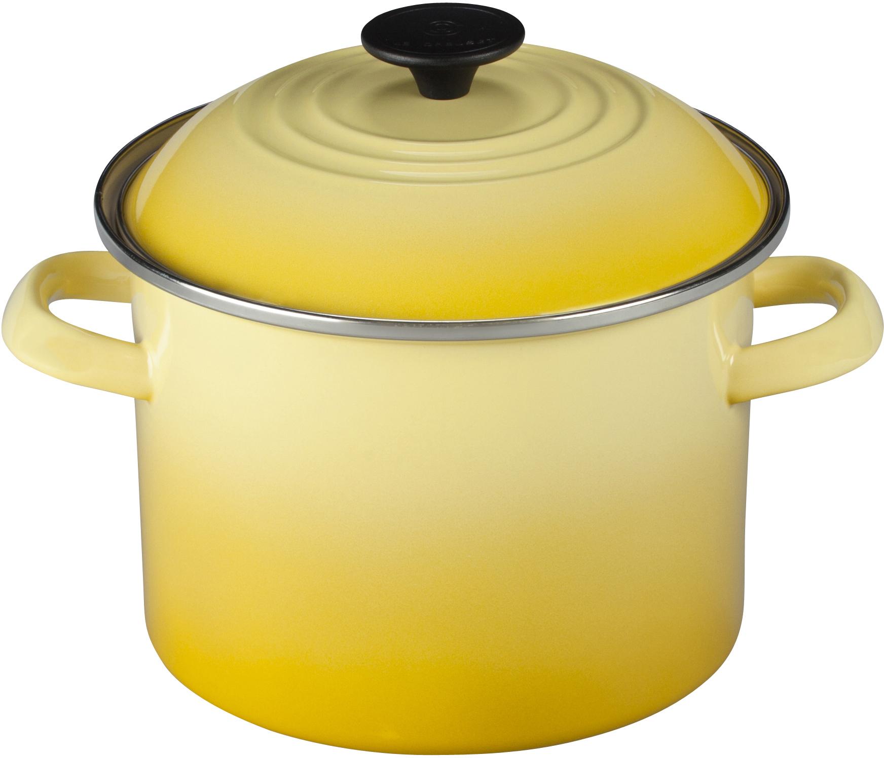 Le Creuset Soleil Yellow Enamel on Steel Stockpot, 6 Quart