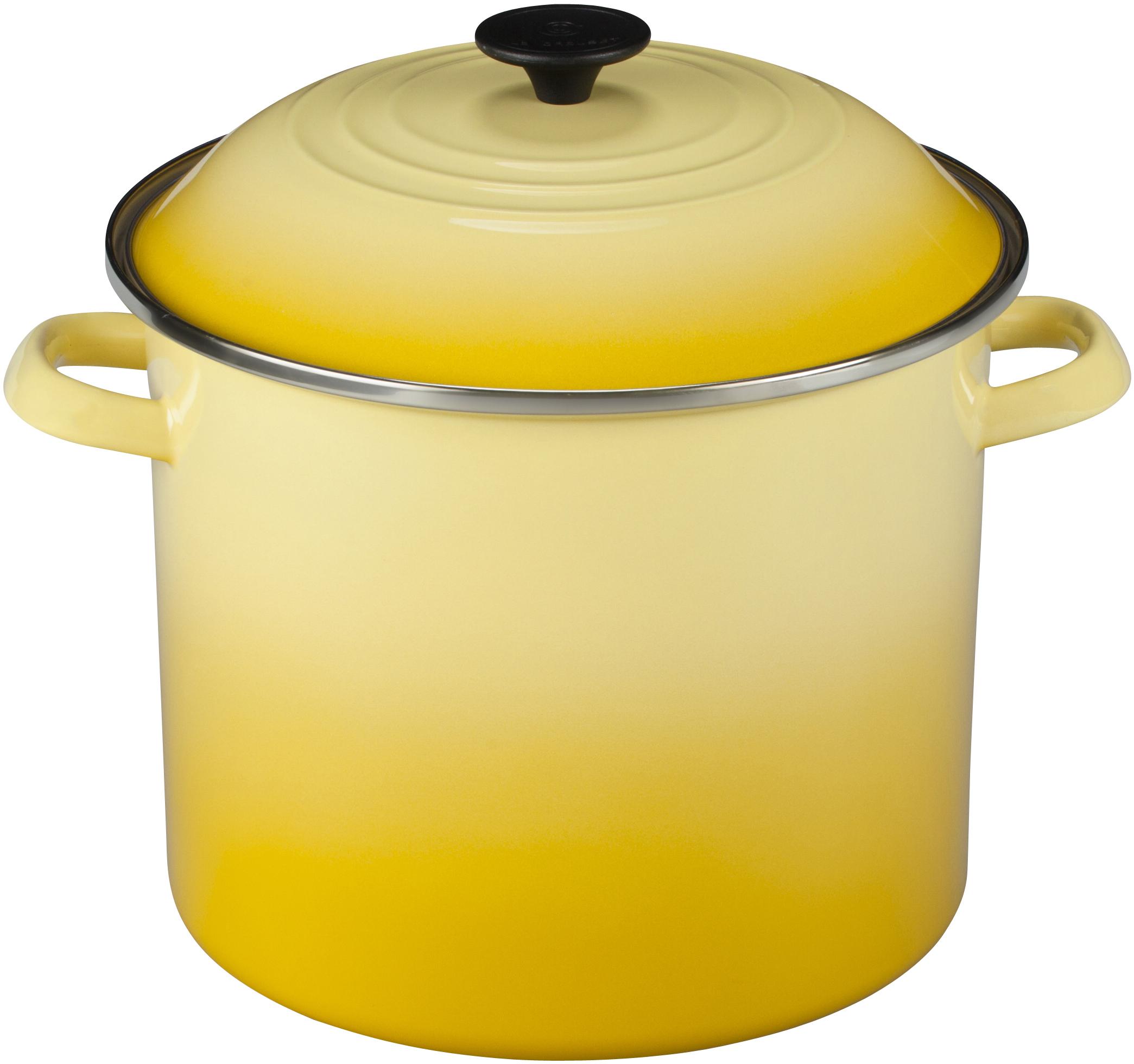 Le Creuset Soleil Yellow Enamel on Steel Stockpot, 12 Quart