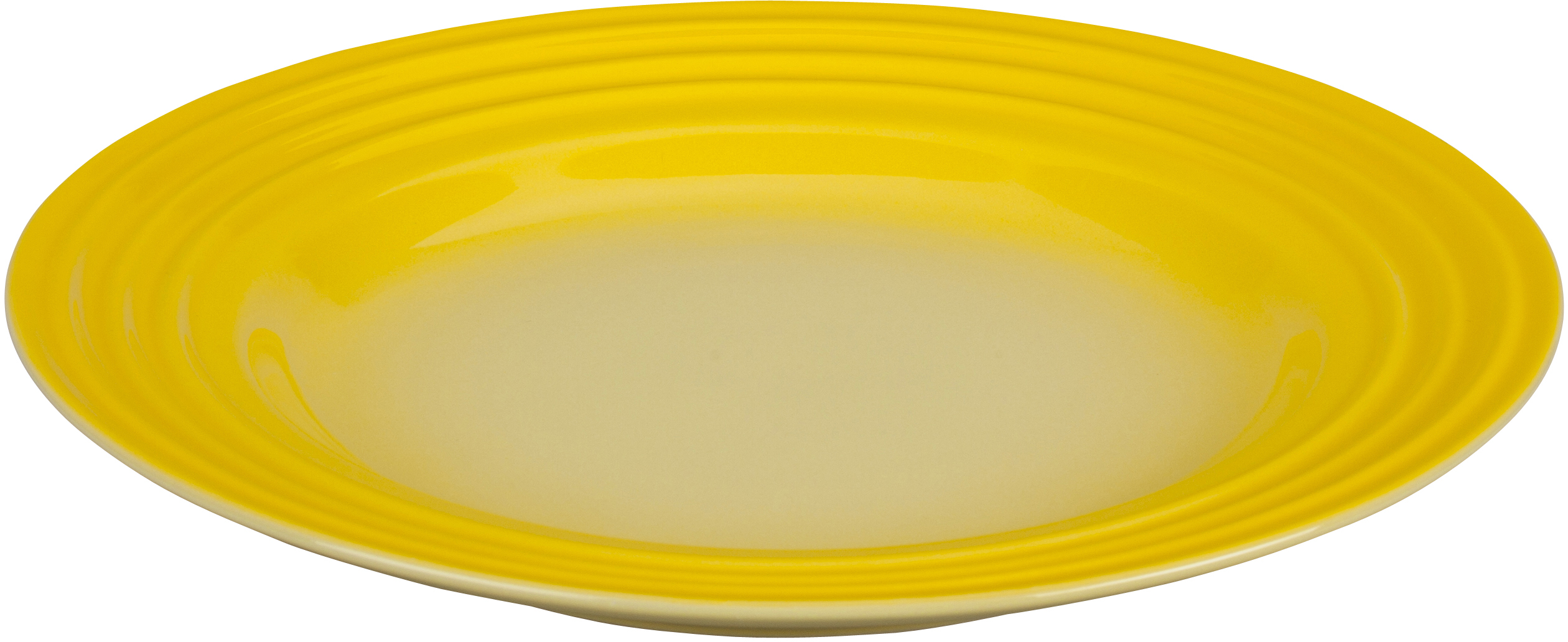 Le Creuset Soleil Yellow Stoneware Salad Plate, 10 Inch