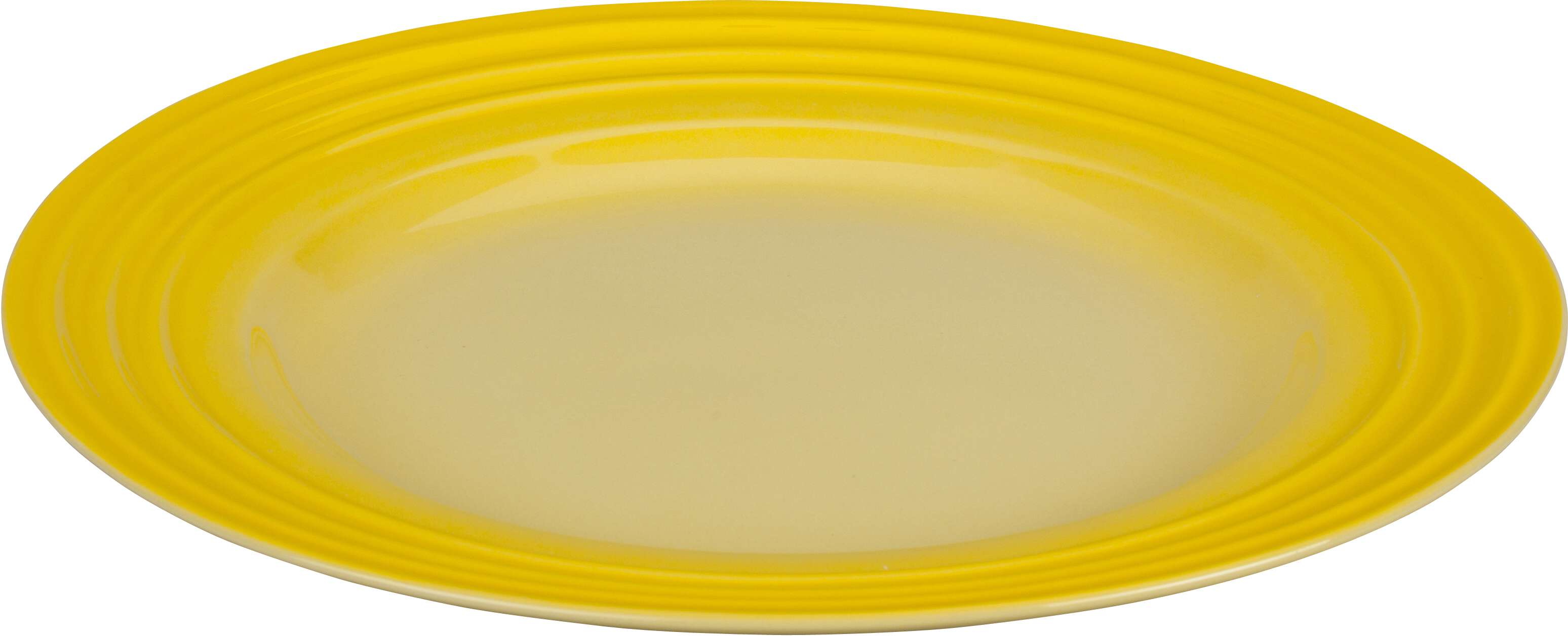 Le Creuset Soleil Yellow Stoneware Dinner Plate, 12 Inch