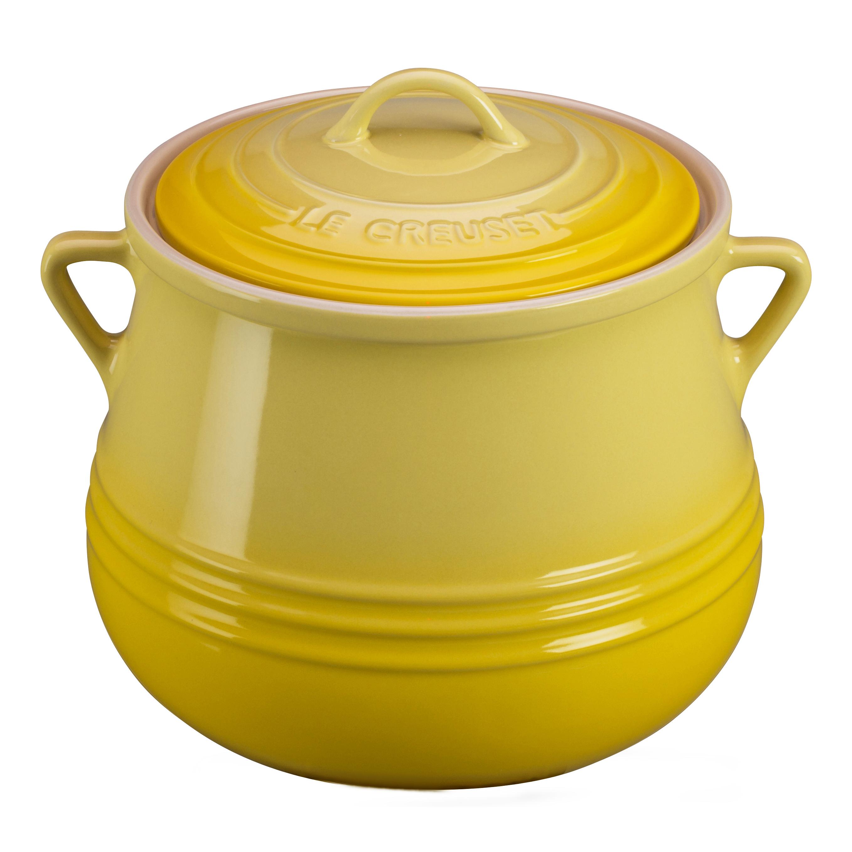 Le Creuset Heritage Soleil Yellow Stoneware Bean Pot, 4.5 Quart