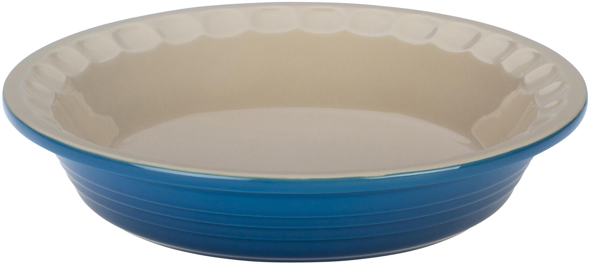 Le Creuset Heritage Marseille Blue Stoneware Pie Pan, 5 Inch