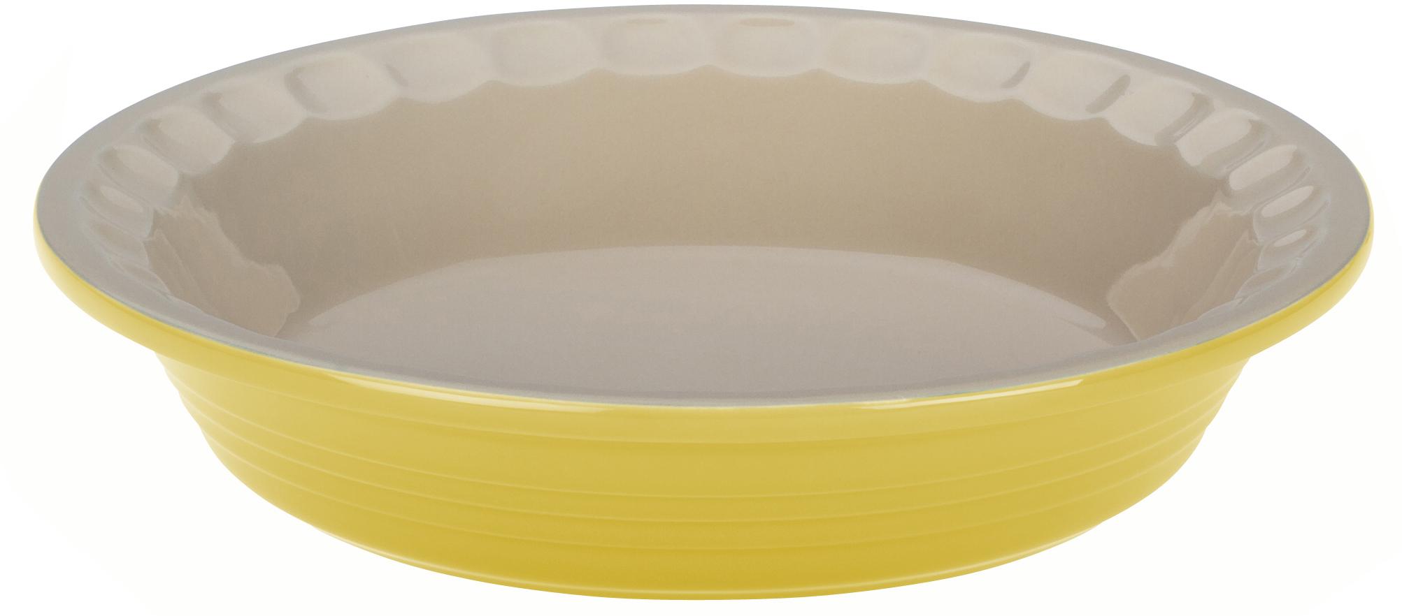Le Creuset Heritage Soleil Yellow Stoneware Pie Pan, 9 Inch