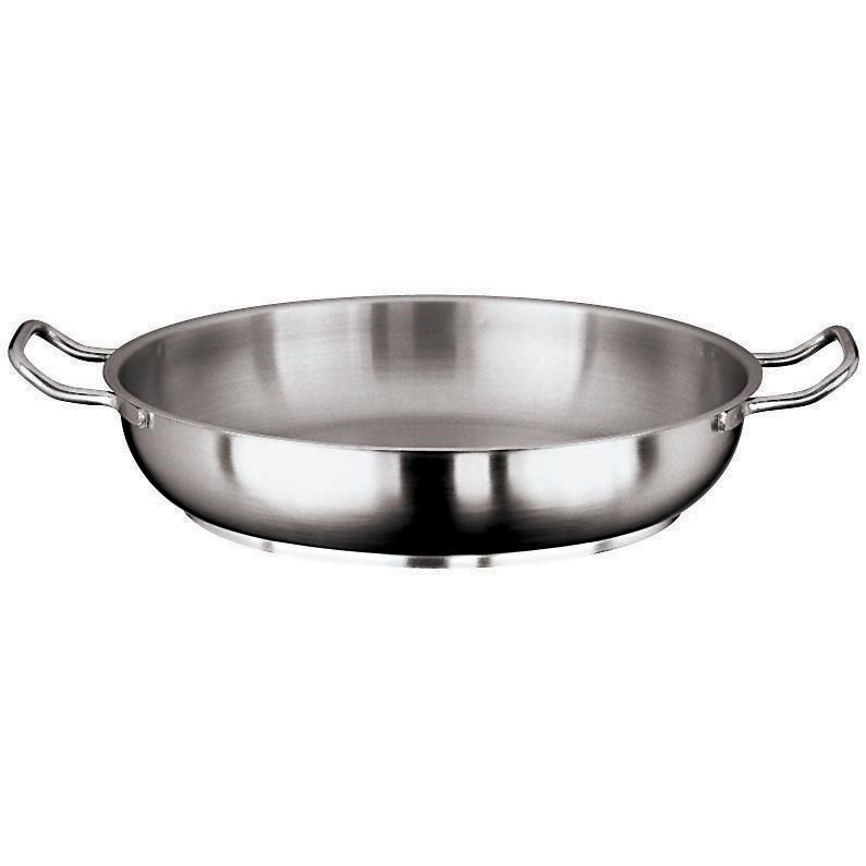 Paderno World Cuisine Grand Gourmet Stainless Steel Paella Pan, 12.5 inch