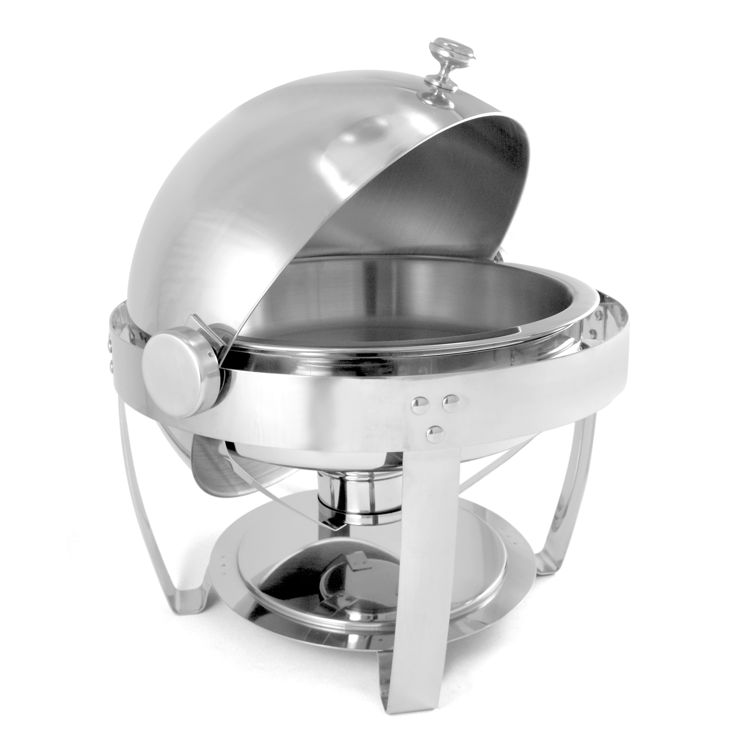 Stainless Steel Round 6 Quart Chafing Dish - Minor Scratch N' Dent