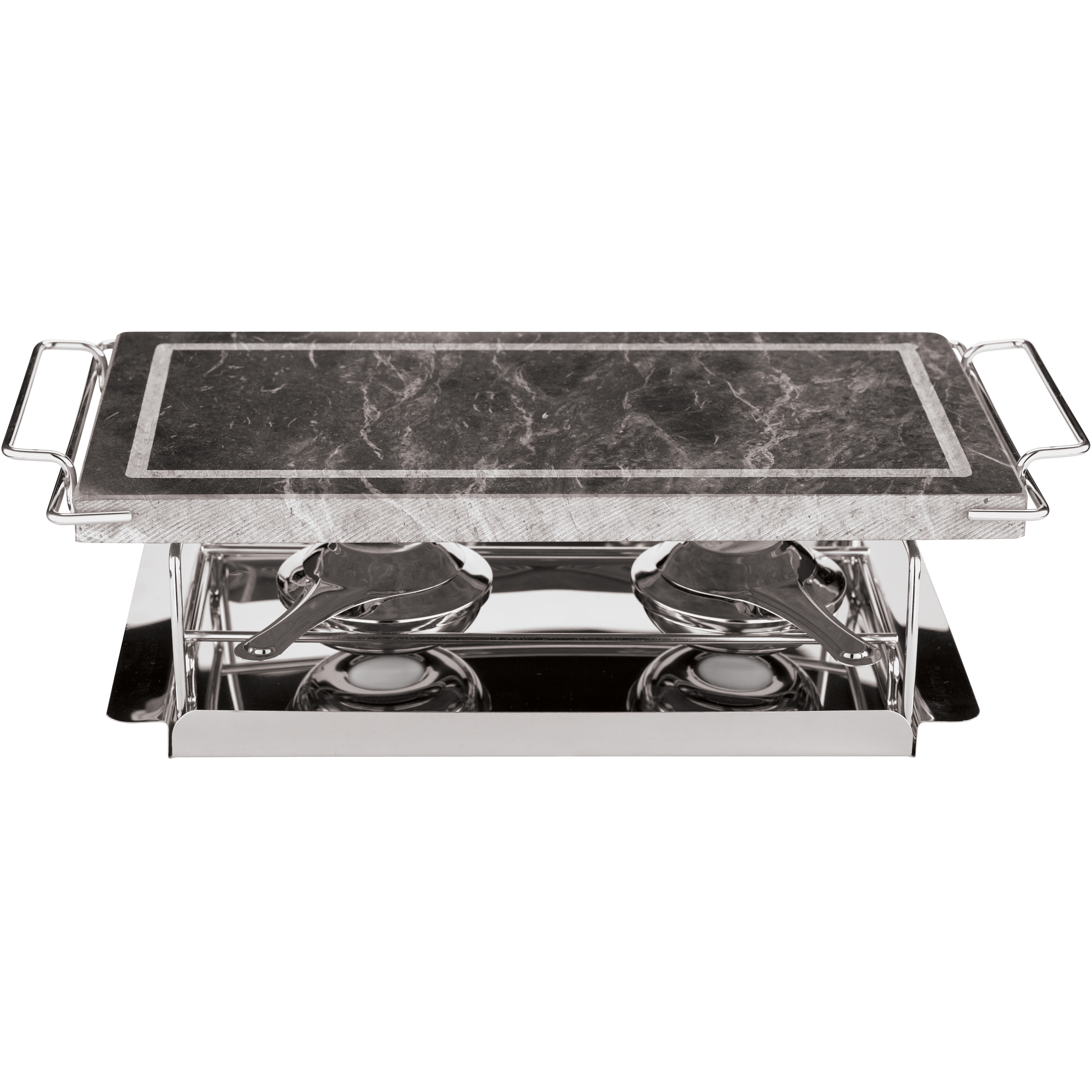 Paderno World Cuisine Stone Grill Set, 17 Inch