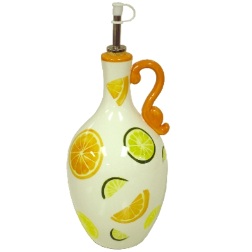 Citrus Delight Ceramic Olive Oil Bottle