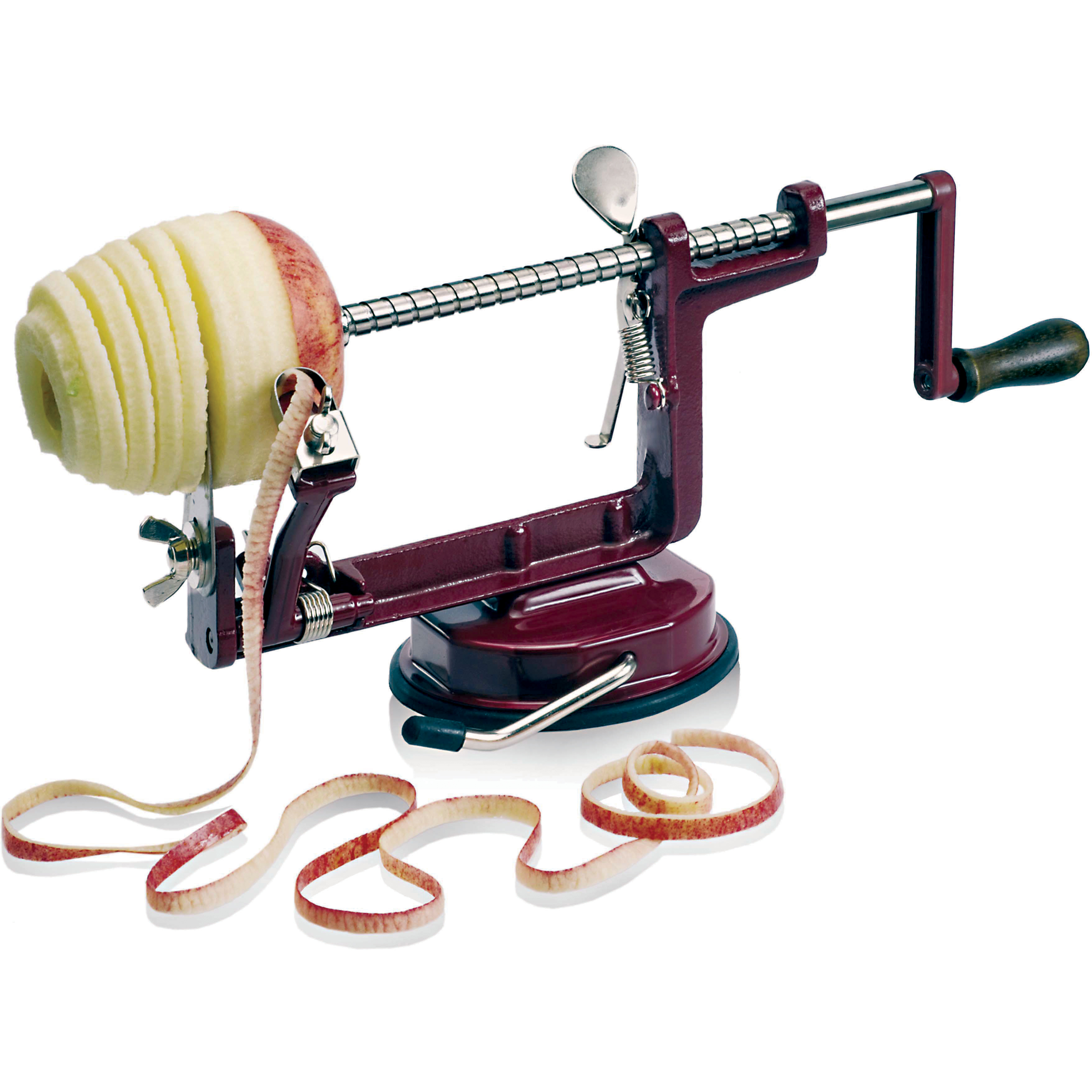 Paderno World Cuisine Stainless Steel Apple Peeler with Suction Cup