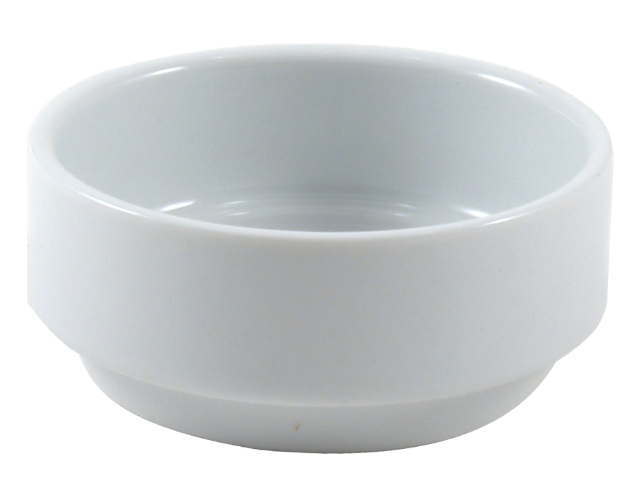 Turgla Round White Porcelain Ramekin, Set of 12