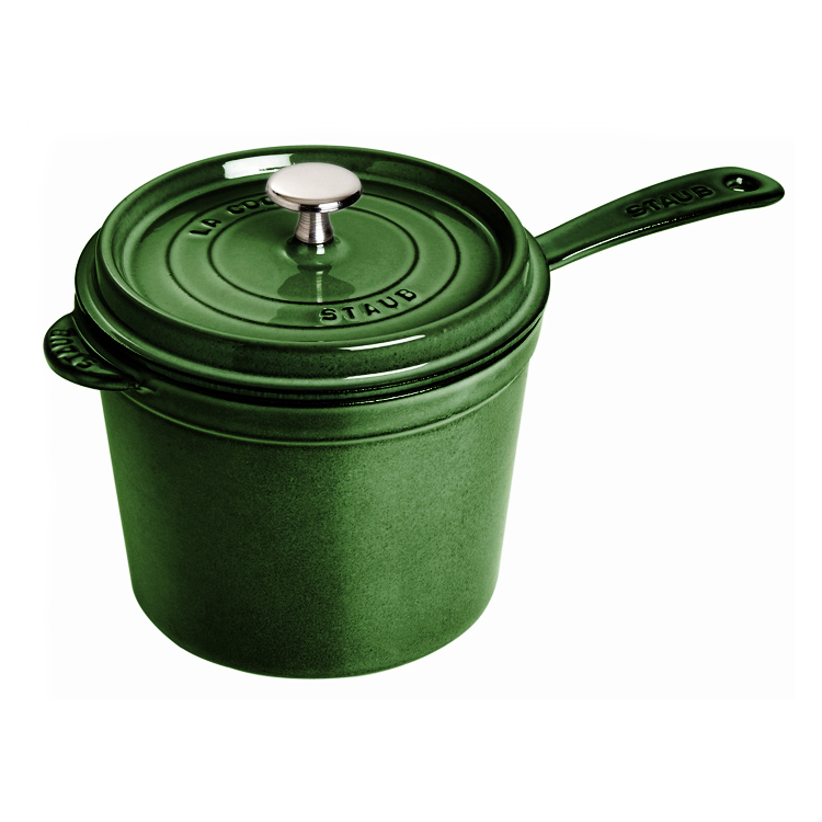 Staub Basil Enameled Cast Iron Covered Saucepan, 3 Quart