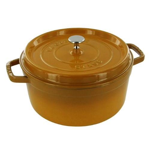 Staub Saffron Enameled Cast Iron Round Cocotte, 5.5 Quart