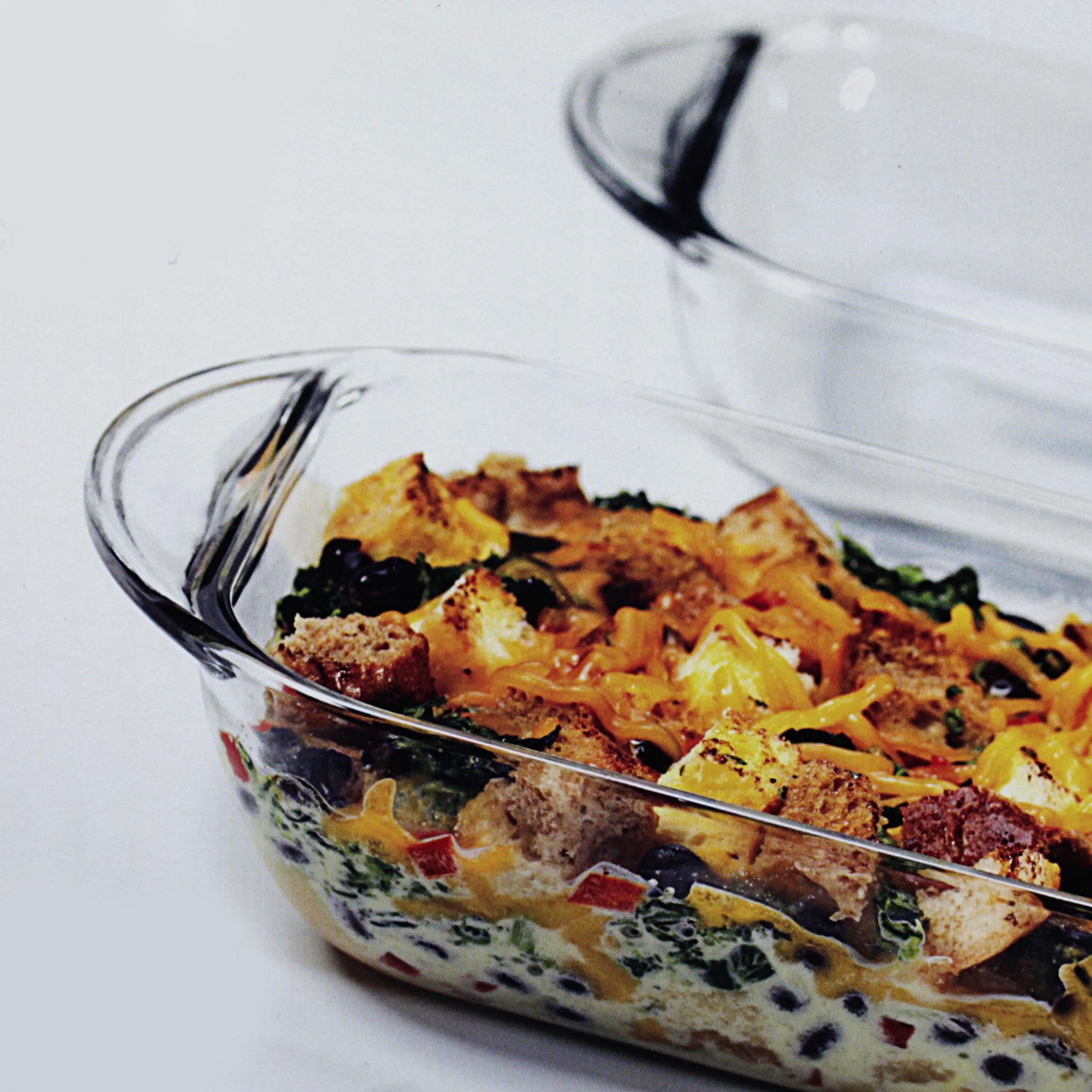 Anchor Hocking Oven Basics 1 Quart Mini Glass Bake Dish, Set of 2