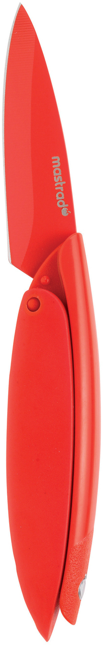 Mastrad Red Stainless Steel Paring Knife, 3 Inch