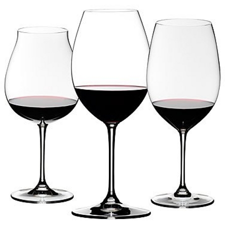 Riedel Sommeliers 3 Piece Leaded Crystal Red Wine Tasting Set