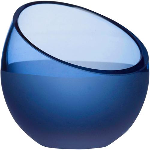 Sagaform Aqua Blue Glass Tea Light Holder