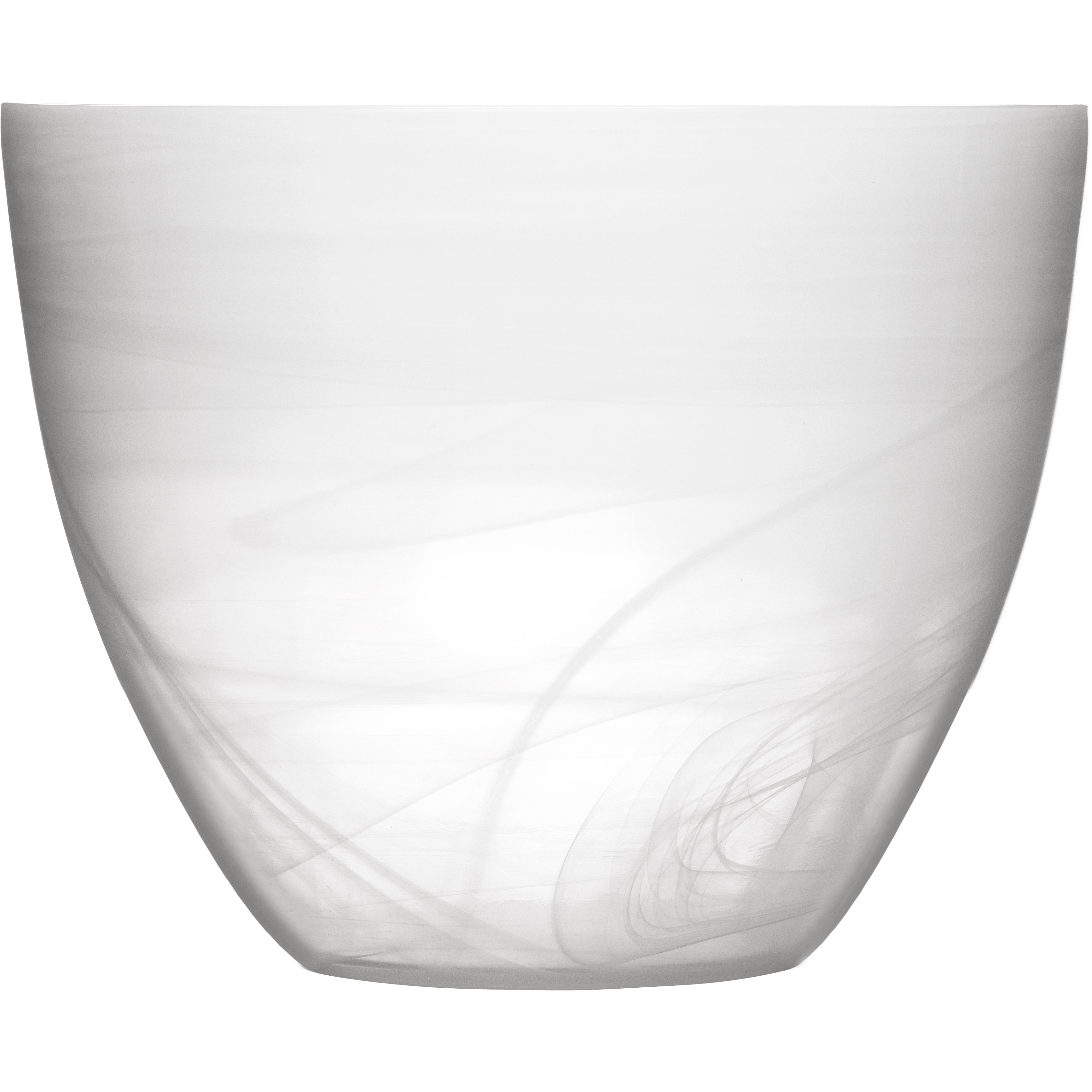 SEAglasbruk Black and White Large White Glass Bowl