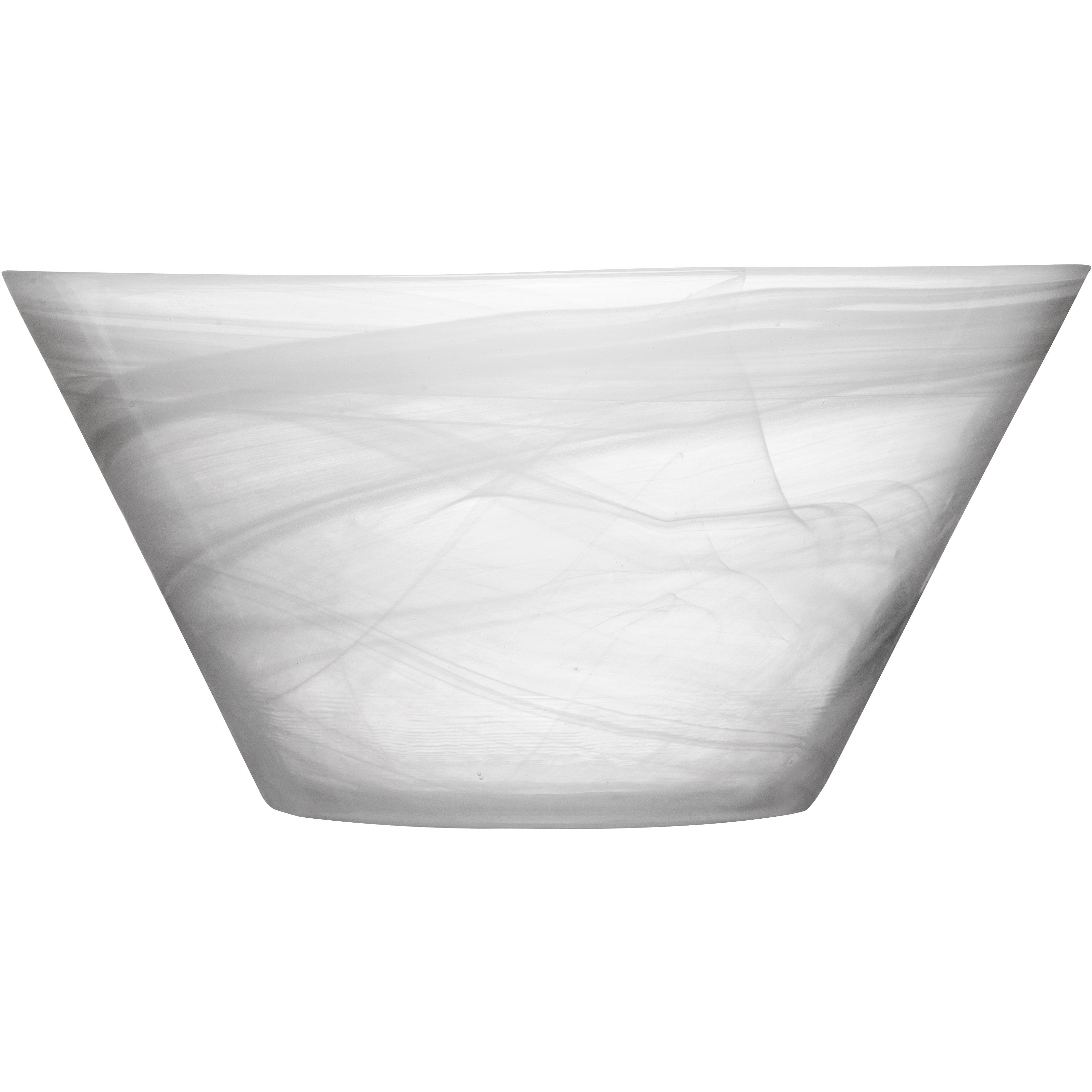 SEAglasbruk Black and White White Glass Serving Bowl
