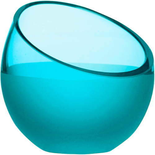 Sagaform Aqua Turquoise Glass Tea Light Holder