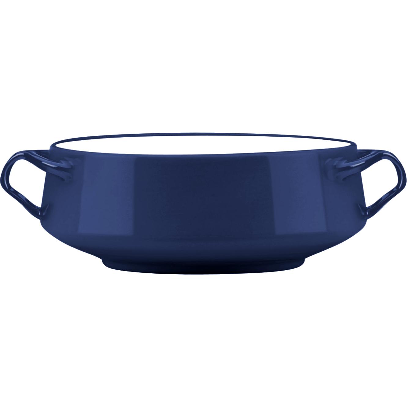 Dansk Kobenstyle Large Blue Stoneware Serving Bowl