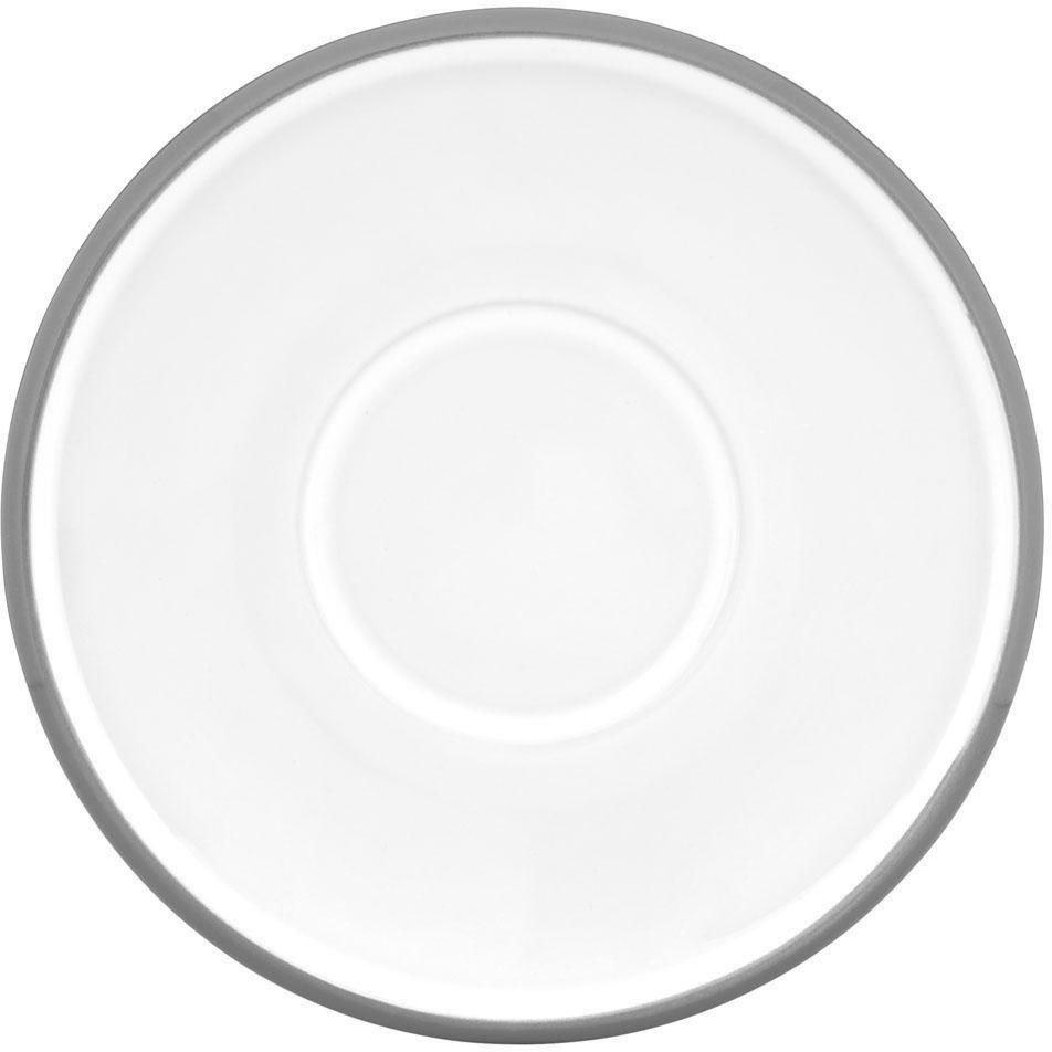 Dansk Kobenstyle Slate Gray Stoneware Demitasse Saucer, Set of 4