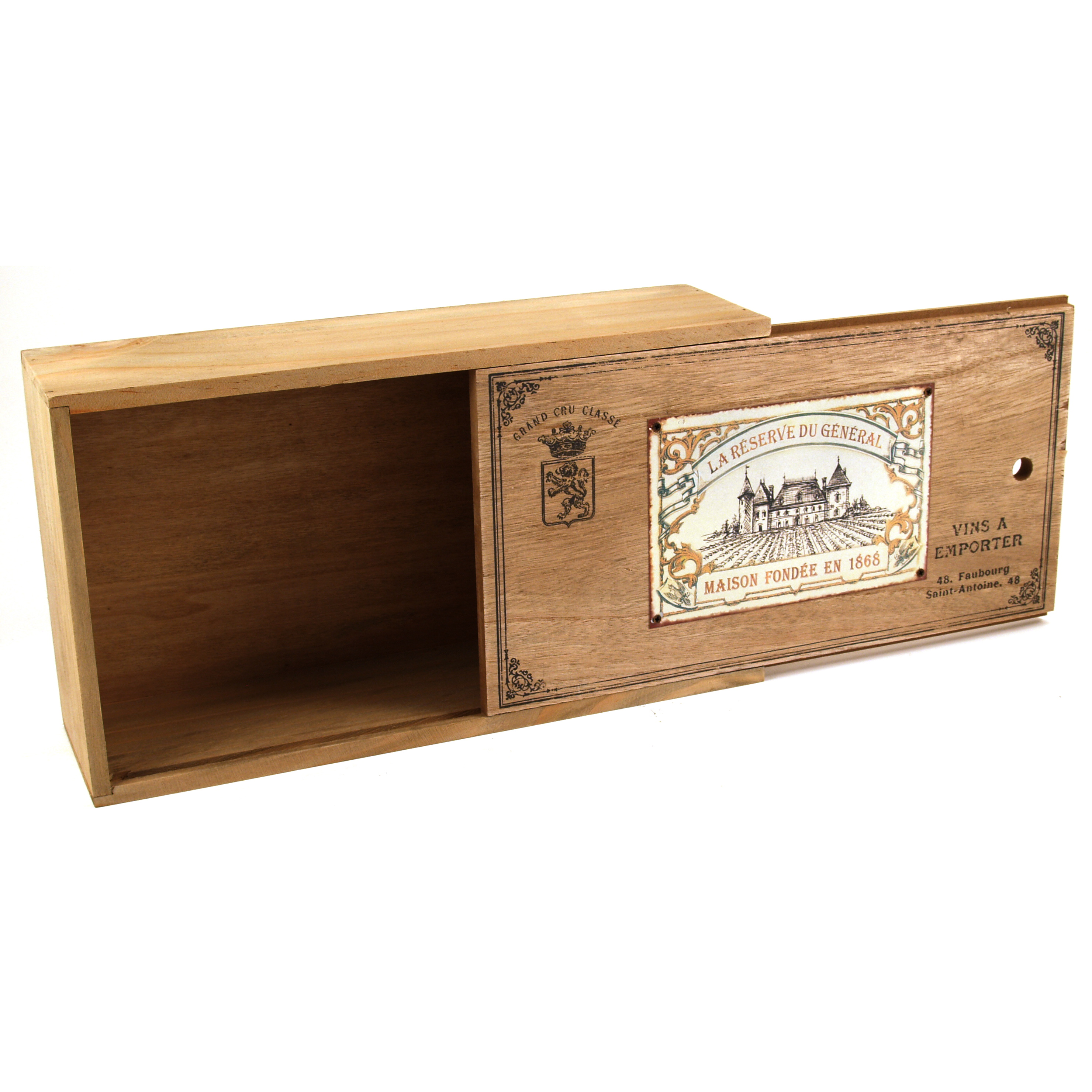 Wooden Enamel Top Winery Box