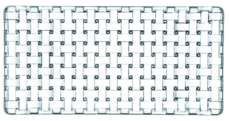 Nachtmann Dancing Stars Bossa Nova Crystal Rectangular Plate, 11 x 5.5 Inch