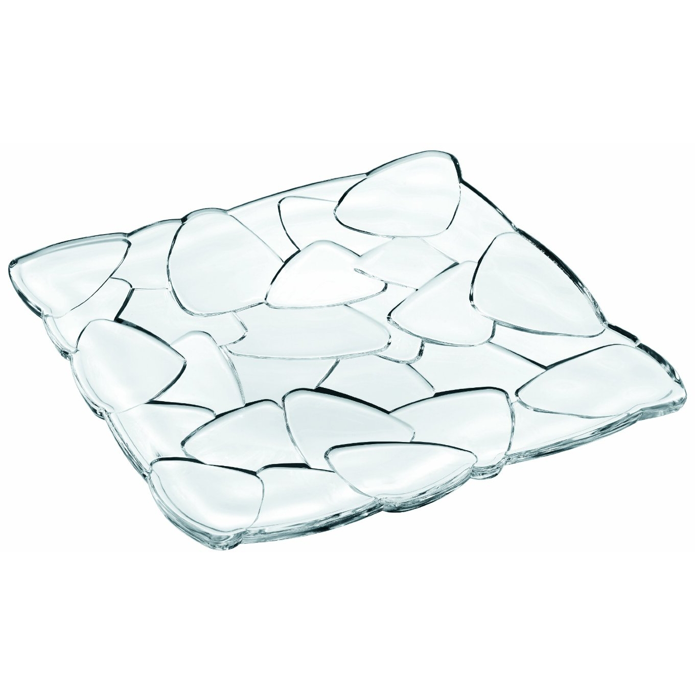 Nachtmann Petals Square Crystal Plate, 11 Inch