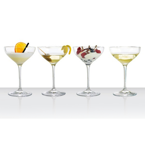 Spiegelau Crystal Dessert and Champagne Saucer Glass, Set of 4