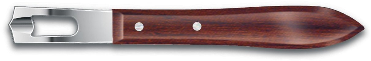 Victorinox Stainless Steel Channel Knife with Wooden Handle, 6 Inch