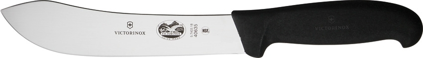 Victorinox Forschner Stainless Steel Butcher Knife with Black Fibrox Handle, 7 Inch