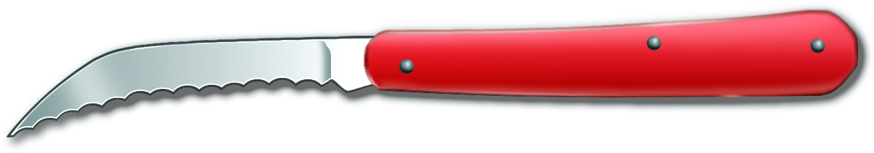 Victorinox Folding Serrated Stainless Steel Twine Knife with Red Alox Handle, 2.5 Inch
