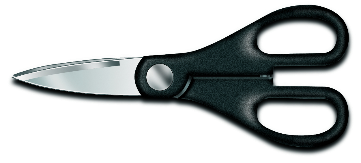Victorinox Stainless Steel Kitchen Shears with Black Polypropylene Handles, 3 Inch