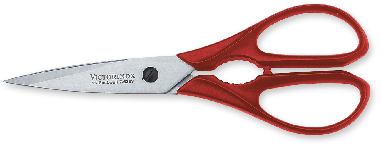 Victorinox Kitchen Utility Stainless Steel Shears with Red Polypropylene Handle, 4 Inch