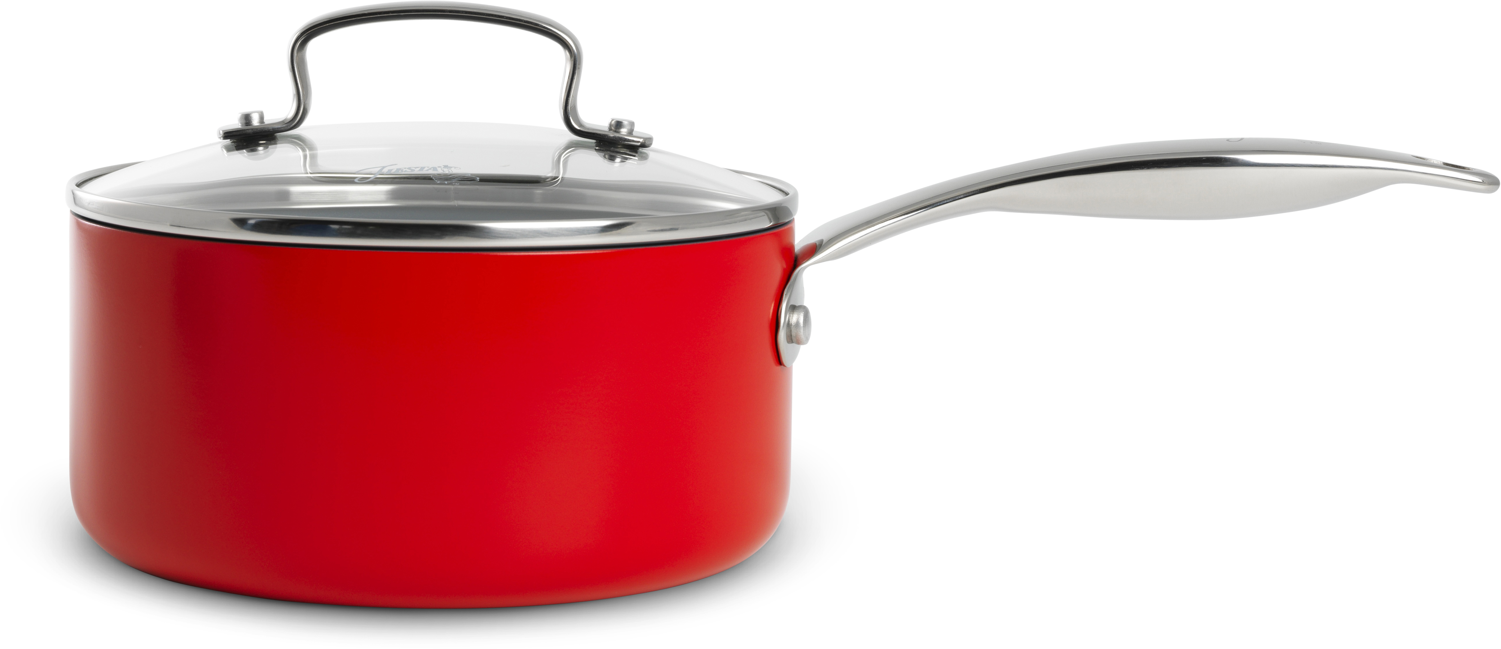 GreenPan Fiesta Scarlet Aluminum Covered Saucepan, 2 Quart