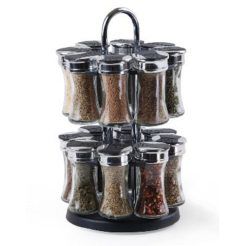 Orii Gourmet Flared Twin Tier 16 Jar Spice Rack