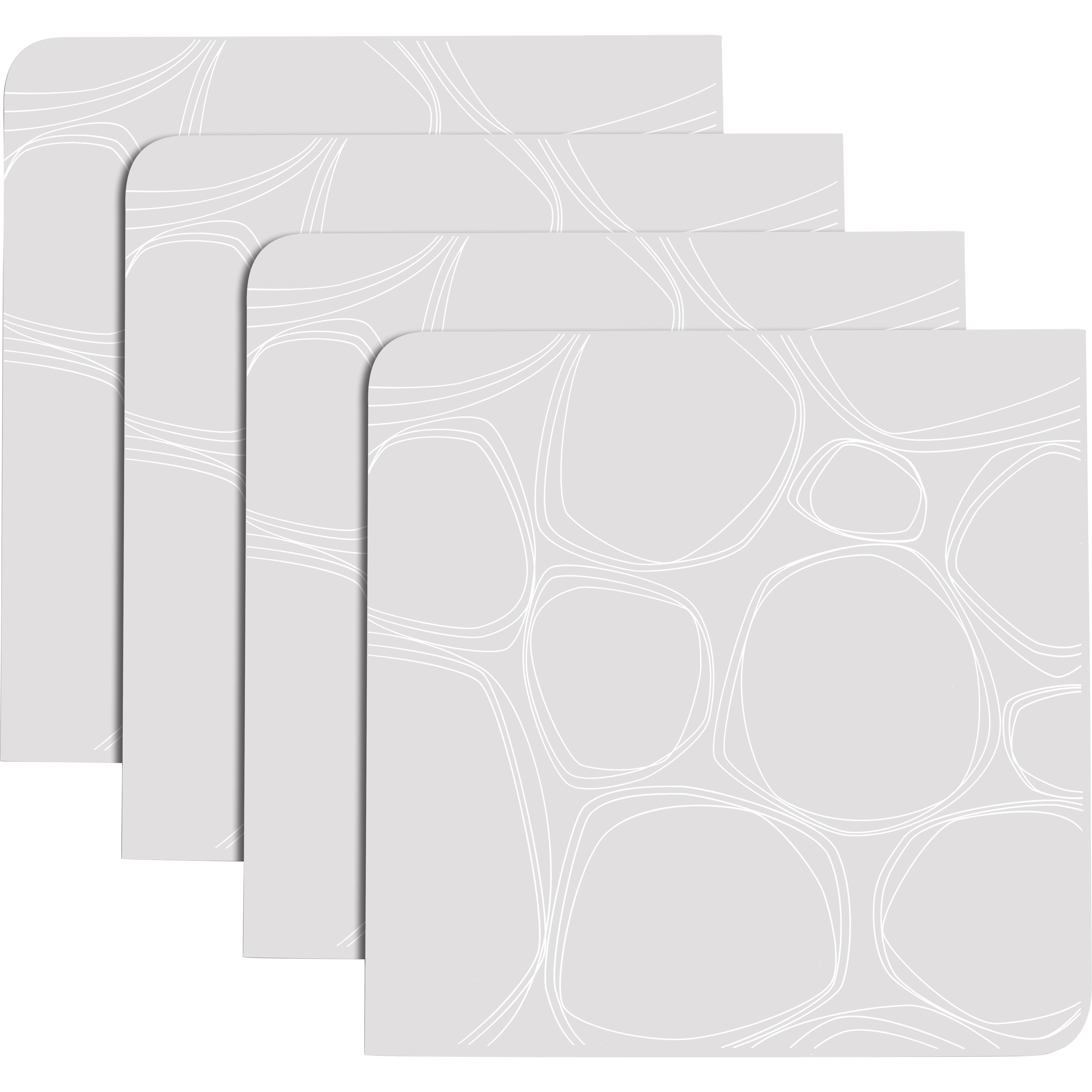 Modern Twist Coaster Notz Pebbles White Silicone Coaster, Set of 4