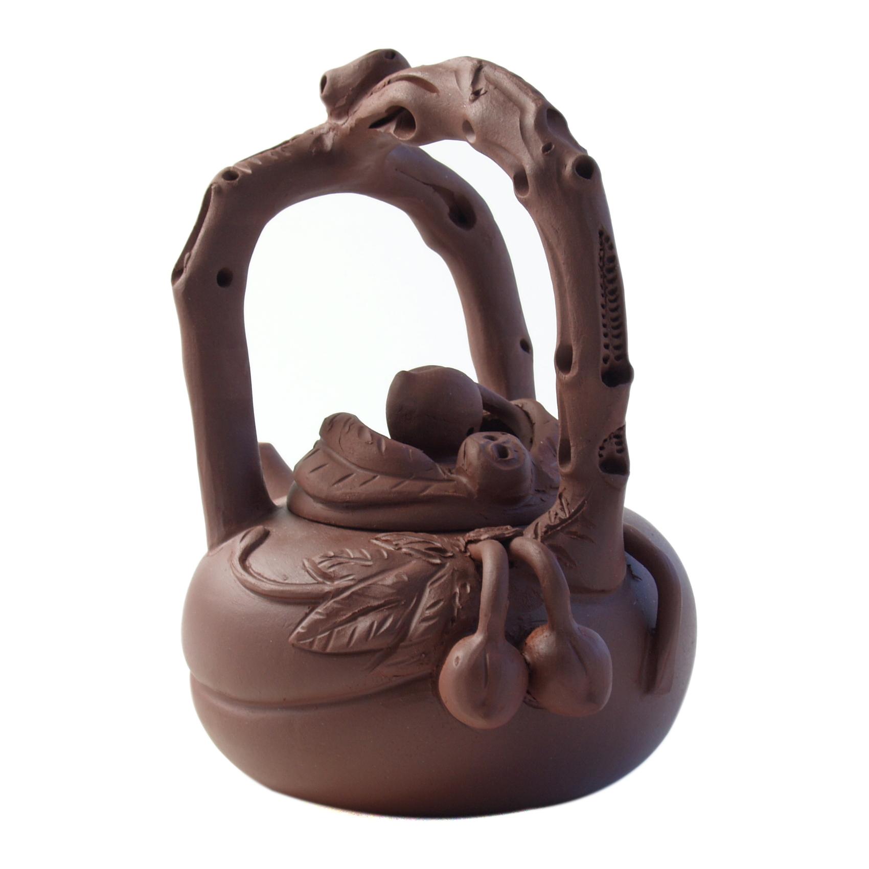 Yixing Monkey On Horse Teapot, 6 Ounce