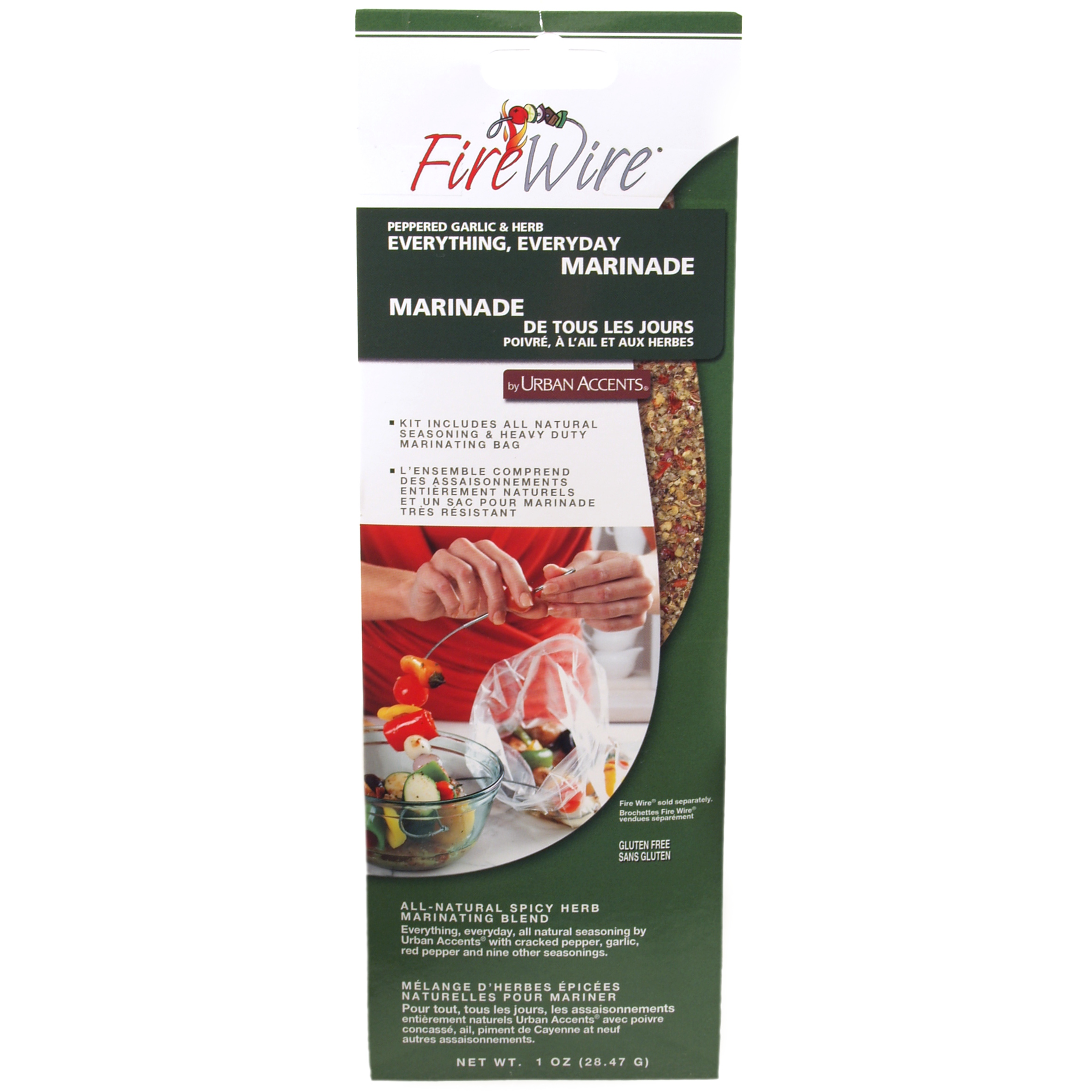 Fire Wire Peppered Garlic and Herb Marinating Kit
