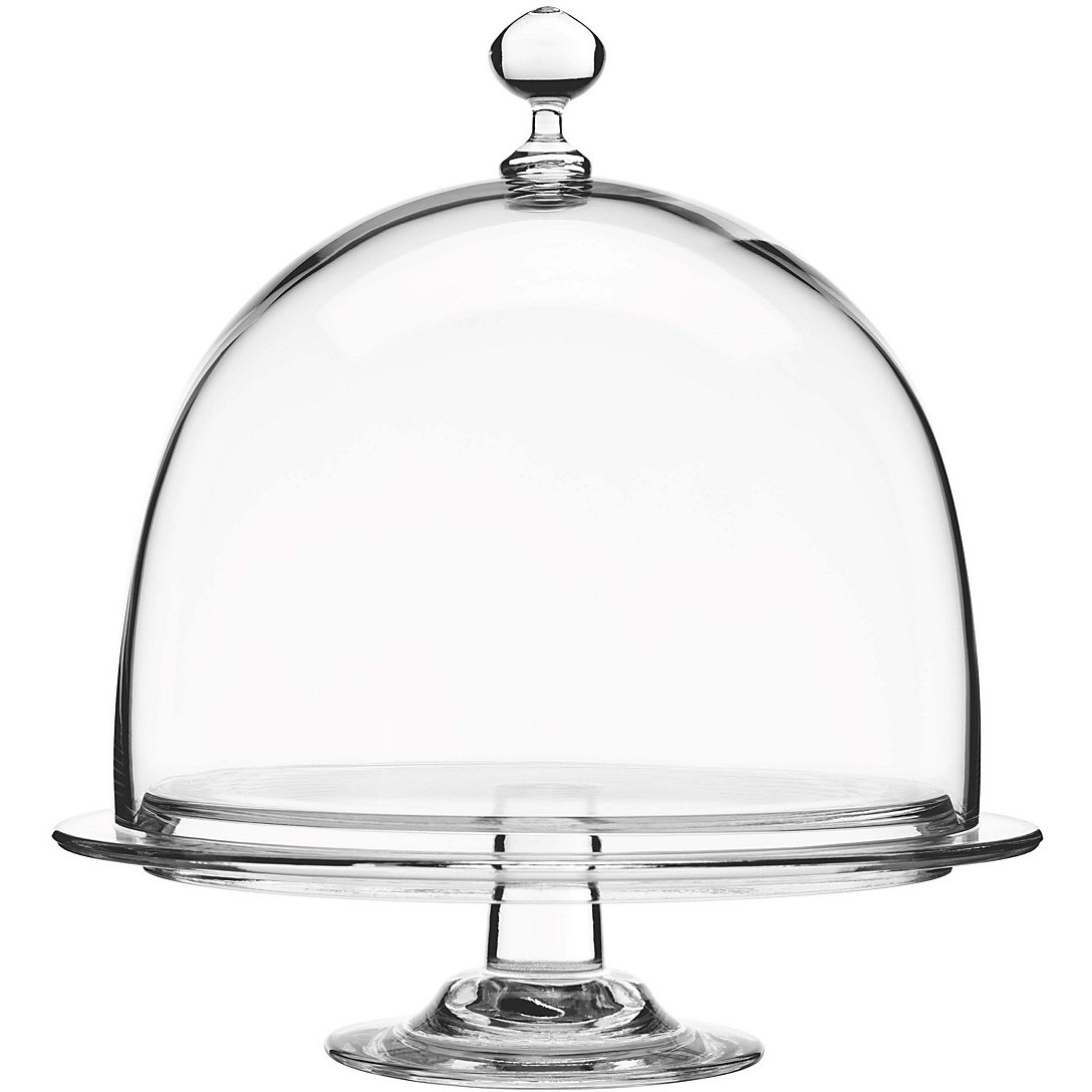 Luigi Bormioli Crescendo Glass Footed Cake Platter, 10 Inch