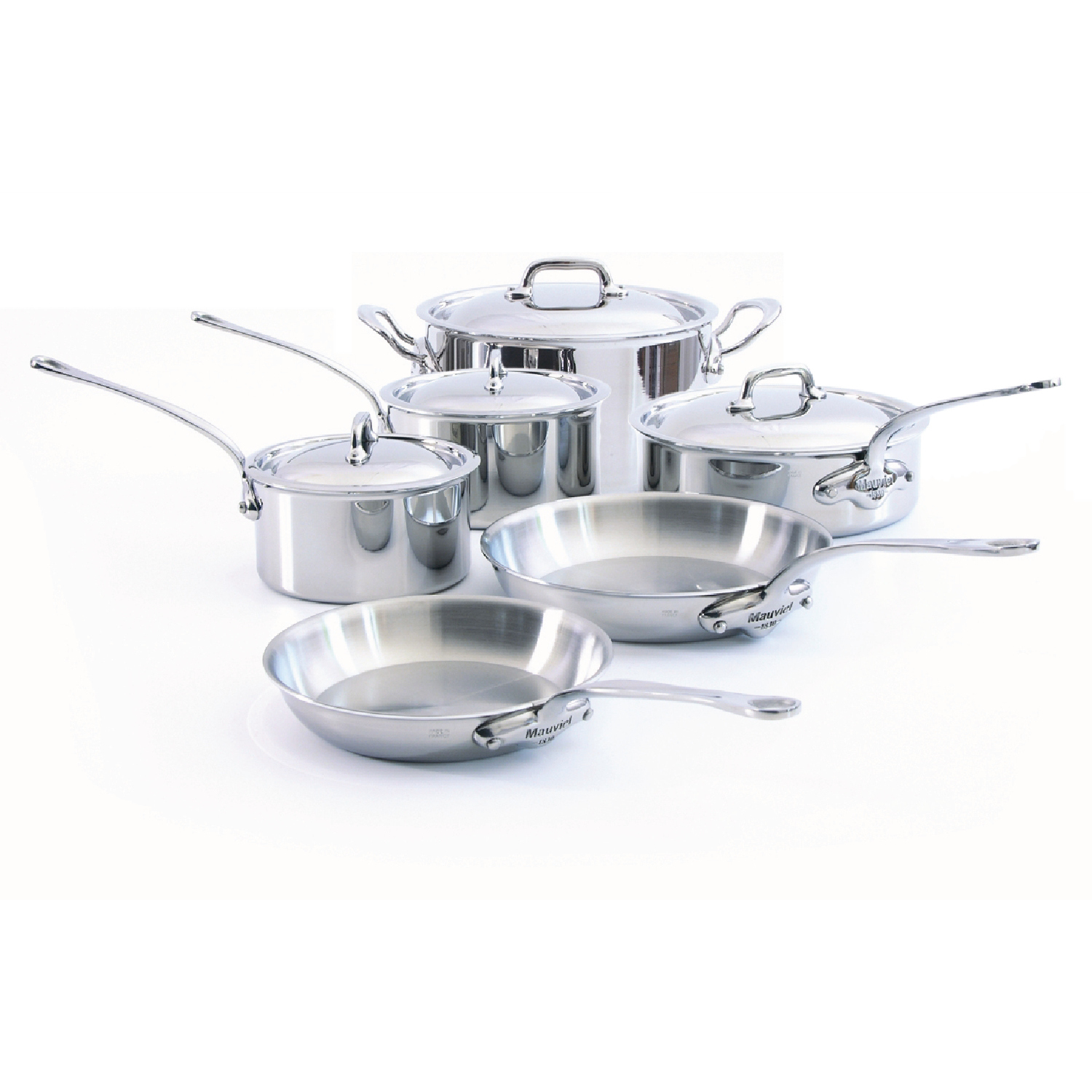 Mauviel M'Cook 10 Piece Stainless Steel Cookware Set
