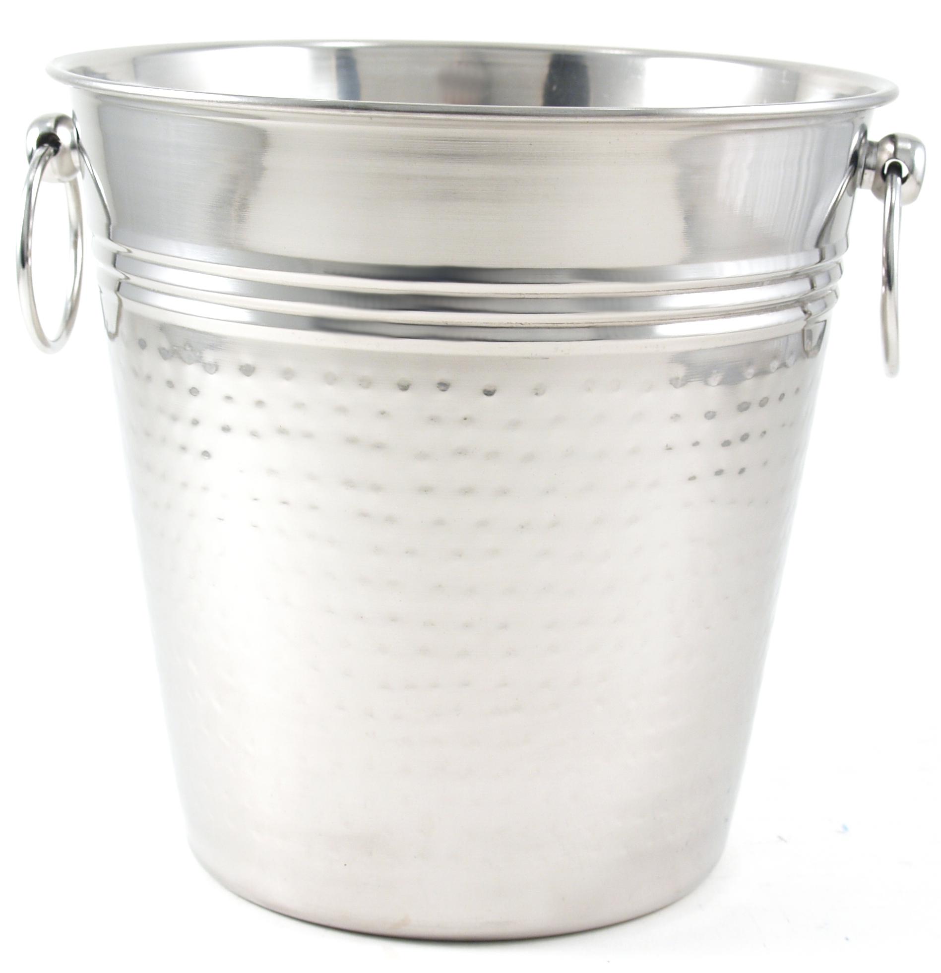 Grant Howard Hammered Stainless Steel Wine Bucket, 5 Quart