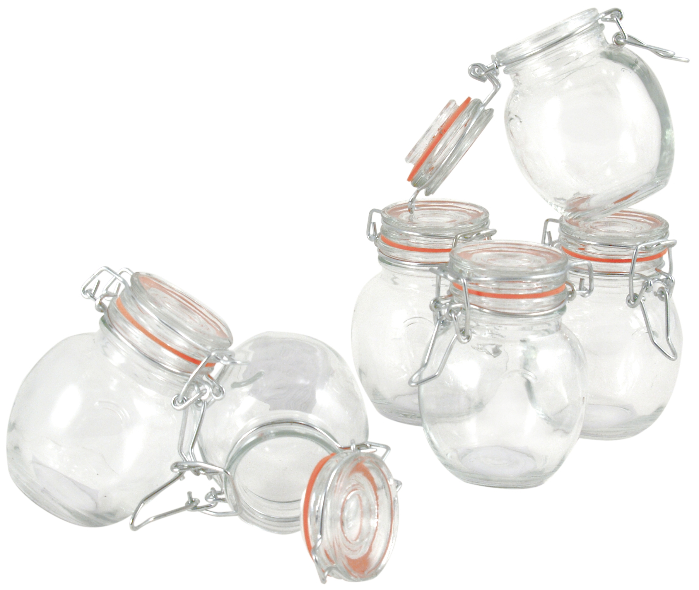 Grant Howard Pot Belly Glass Spice Jar, Set of 24